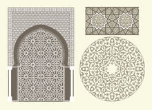 Arabian ornament. Vector illustration of a door in Arabian style Royalty Free Stock Image