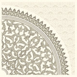 Arabian ornament. Background with a seamless ornament in the Arabian style stock illustration