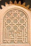 Arabian ornament. Arabian wood ornament. Detail of wall Stock Photo