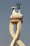 Arabian Oryx statue in Doha Stock Photo