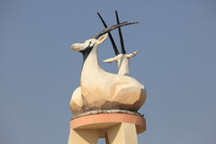 Arabian Oryx statue in Doha Stock Photography