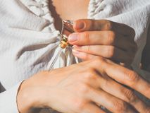Arabian oud attar perfume or agarwood oil fragrances in crystal bottle. Arabian oud attar perfume or agarwood oil fragrances in crystal bottle Stock Photos