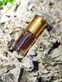 Arabian oud attar perfume or agarwood oil fragrances in mini bottle. Arabian oud attar perfume or agarwood oil fragrances in mini bottles on a natural Royalty Free Stock Photography