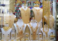 Arabian Pakistani Indian traditional gold jewelry royalty free stock photography
