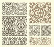 Arabian pattern. Background with seamless pattern in Arabian style Royalty Free Stock Photos
