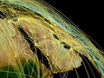 Arabian peninsula network Stock Image