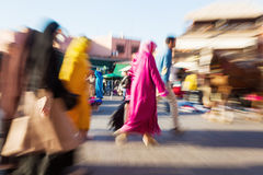 Arabian people in Marrakesh Stock Image