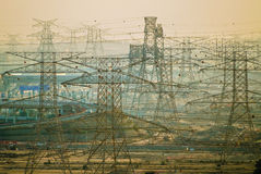 Arabian Power Lines Stock Images