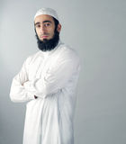Arabian religious muslim man isolated Stock Photography
