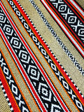 Arabian Sadu Rug Weaving Patterns Closeup Royalty Free Stock Photography