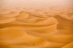 Arabian Sand Dunes. Desert landscape Erg Chebbi Near Merzuga, Morocco Stock Images