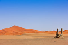 Arabian Sand Dunes and fountain Stock Image