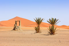 Arabian Sand Dunes and fountain Royalty Free Stock Images
