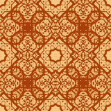 Arabian seamless background in brown color. Royalty Free Stock Photography