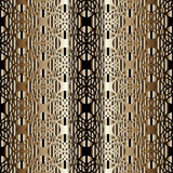Arabian seamless pattern. Abstract seamless pattern with Arabian ornament elements. Gold and brown pattern is on the gradient background. Muslim traditional royalty free illustration