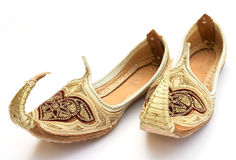 Arabian shoes 3. A pair of miniature Persian or Arab shoes in the Aladdin style royalty free stock images