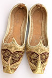 Arabian shoes 5. A pair of miniature Persian or Arab shoes in the Aladdin style stock photos
