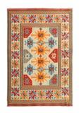 Arabian silk carpet. On white background stock image