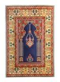 Arabian silk carpet. On white background stock photo