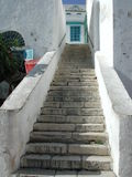Arabian Stairs. Stone made Stairs in Tuniesia stock photo
