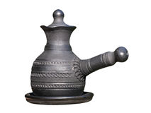Arabian style coffee pot.Isolated. Stock Photos