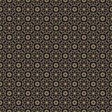 Arabian style gold luxury seamless pattern Stock Image