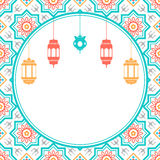 Arabian style Islamic background with lanterns Stock Images