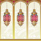 Arabian Style Lamps. Arabian style lighting lamps. Vector illustration Stock Photos