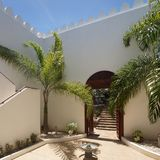 Arabian-style Mansion in Tanzania, Africa royalty free stock photos