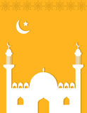 Arabian style mosque Islamic background Royalty Free Stock Photography