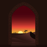 Arabian sunset Royalty Free Stock Image