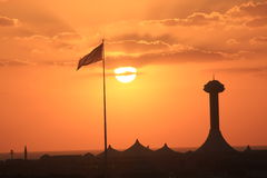 Arabian sunset Royalty Free Stock Photos