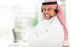 Arabian IT support Stock Photo