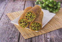 Arabian sweets with Pistachios. Arabian sweets, with Pistachios Royalty Free Stock Image