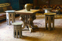 Arabian table with chairs - Cairo, Egypt Royalty Free Stock Photography