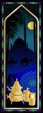 Arabian tea card. Arabian night tea card with camels Royalty Free Stock Photography