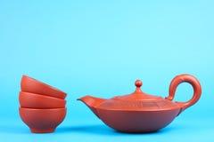 Arabian teapot with teacups Royalty Free Stock Photos