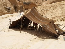 Arabian tent. Berber tent in Sahara stock images