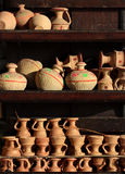 Arabian traditional sand pots Royalty Free Stock Photo