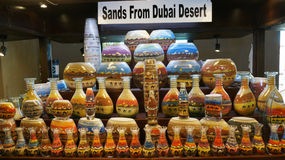 Arabian traditional sand pots in Dubai Old market Royalty Free Stock Images
