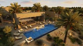 Arabian villa Royalty Free Stock Images