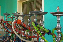 Arabian water pipes. Or sheesha. Used for smoking tobbaco Royalty Free Stock Photos
