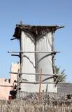 Arabian Wind Tower. Traditional Arabian Wind Tower in Abu Dhabi Heritage Village Royalty Free Stock Photography