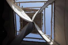 Arabian wind tower. Abu Dhabi Royalty Free Stock Image