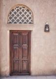 Arabian Window. Traditional Arabian Door in Sharjah, UAE Stock Images