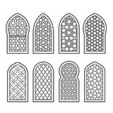 Arabian window with ornament - grating arabesque Royalty Free Stock Photos