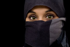 Arabian woman. Arabian young beautiful green eyed woman Royalty Free Stock Photos