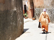 Arabian woman. In the street of Marrakesh, Morocco Stock Photography