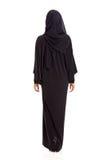 Arabian woman. Back view of arabian woman in black saree Royalty Free Stock Photo