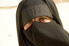 Muslim woman with burka Stock Photos
